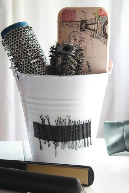 DIY Casa - Organizando las horquillas de pelo