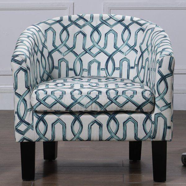 Groovy Heywood Armchair And Ottoman In 2019 Barrel Chair Printed Caraccident5 Cool Chair Designs And Ideas Caraccident5Info