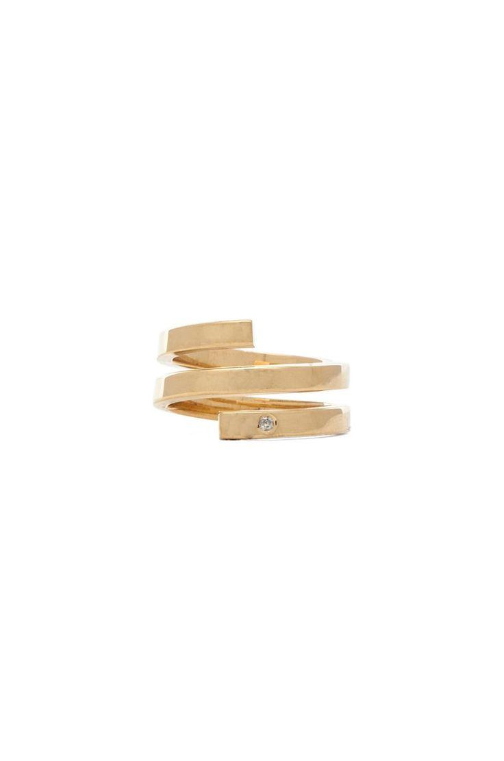 Jennifer Zeuner Celine Ring in Yellow Vermeil