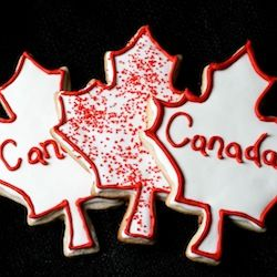 Celebrate Canada Day with a Lemon Zest Sugar Cookie.... Why not? They are our northern neighbors! Haha