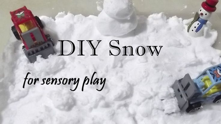 DIY Snow - Πώς φτιάχνουμε Χιόνι