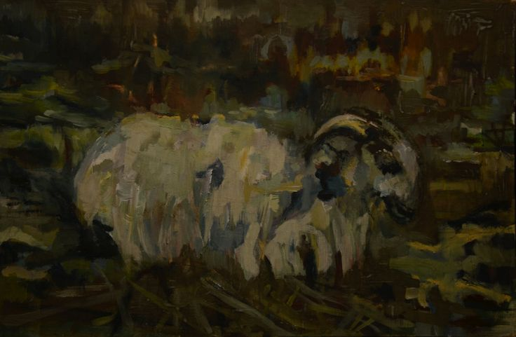 Sheep by Nina Panagopoulou on ArtClick.ie #irishart