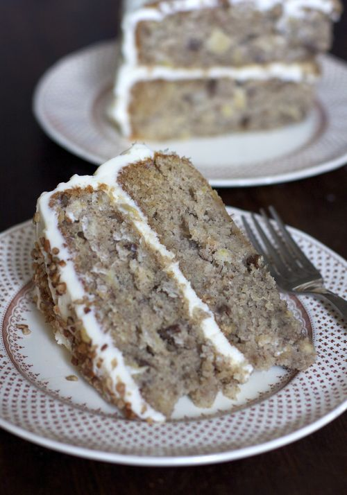 Monkey Cake (banana cake with pecans and cream cheese frosting)