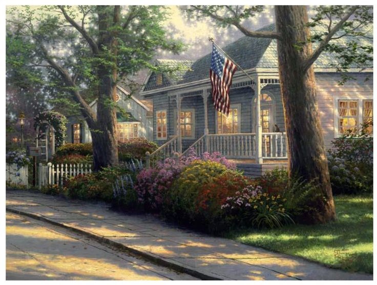 Amazon.com: Plaid Thomas Kinkade Series Paint by Number Kit, 20-Inch by 16-Inch, Light of Peace: Arts, Crafts & Sewing