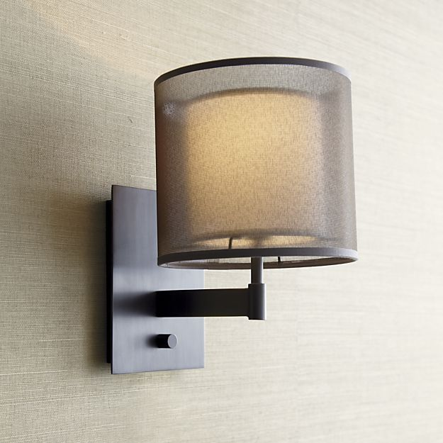 Crate And Barrel Wall Sconce - Charles Bronze Wall Sconce From Crate Barrel, Eclipse Antiqued ...