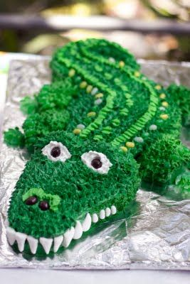 Alligator Birthday Cake | The Queen of Tarts: