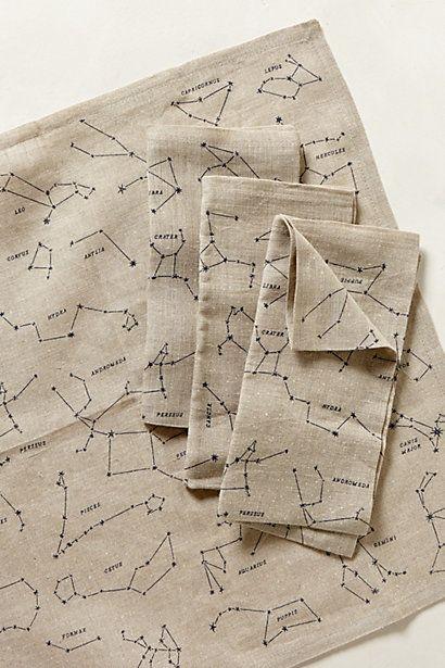 constellation napkins from anthropologie