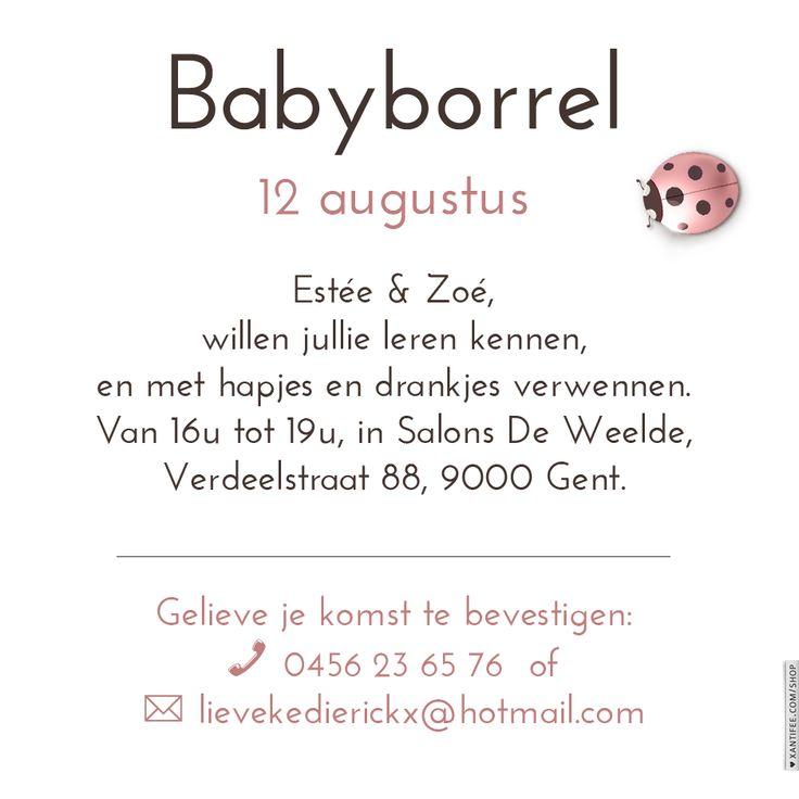 Afbeeldingsresultaat voor babyborrel uitnodiging