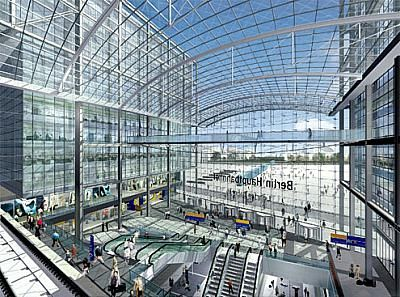 Berlin's new Hauptbahnhof (central train station). From here, I took the train to Hannover.