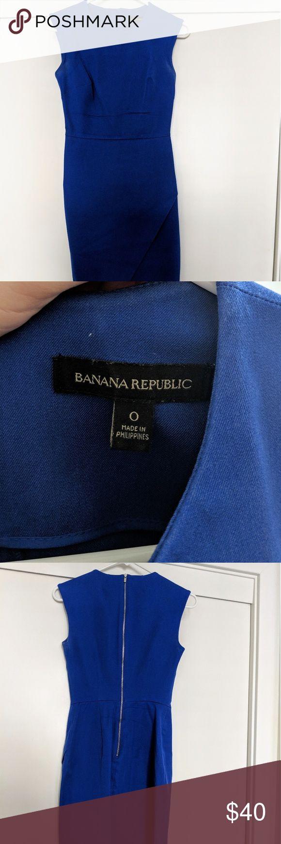 Banana Republic Blue Professional Dress Professional royal blue Banana Republic …