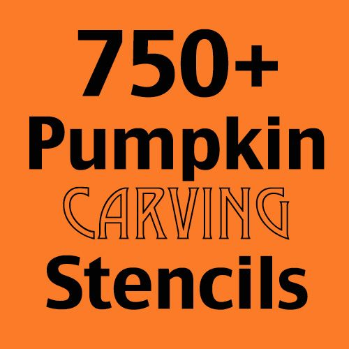 In case old school isn't how you roll... Awesome list of 750+ pumpkin carving stencils - literally everything you could think of is on this list. #halloween #pumpkins