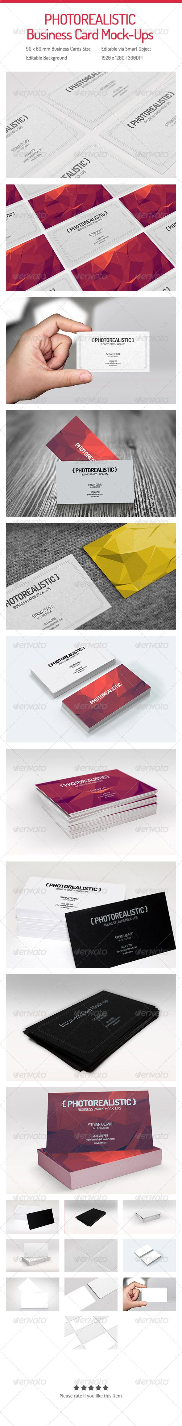 Photorealistic Business Cards Mock-ups