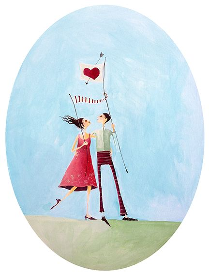 Flying the Flag of Love - by Wellington artist, Crispin Korschen. Art-prints and note-cards are available from www.imagevault.co.nz