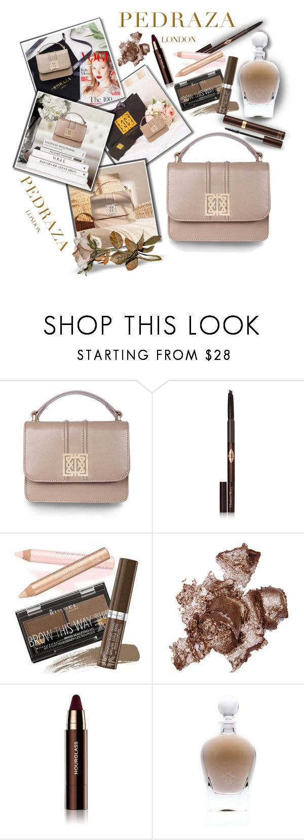 """PEDRAZA - Contest!!!"" by sarahguo ❤ liked on Polyvore featuring Charlotte Tilbury, Rimmel, By Terry, Hourglass Cosmetics, EB Florals, Tom Ford, PedrazaLondon and Pedraza"