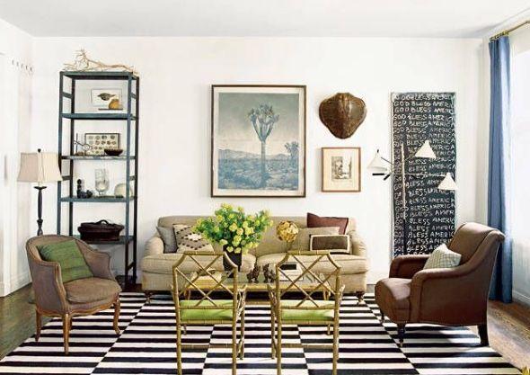 Похожие формы в дизайне гостиной