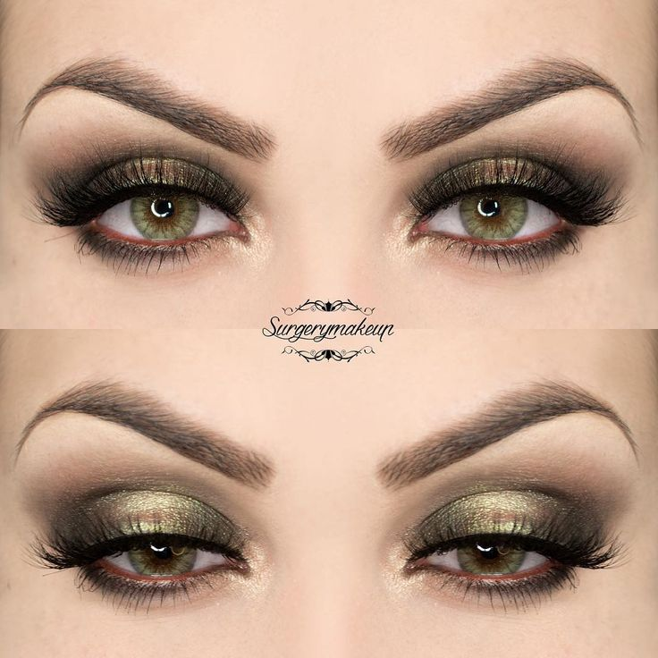Tutorial of this look on youtube.com/surgerymakeup  @desioeyes Forest Green lenses; @nyxitalia HD eyeshadow base; @diegodallapalma_official '105 Deep Brown, 112 Forest and 102 Champagne' Pearl Satin eyeshadows; @inglot_cosmetics Pigment 84; @nevecosmetics Pastello Terra; DeerLash mascara; @flutterlashesinc Kelsey lashes; @anastasiabeverlyhills Dipbrow Pomade in Dark Brown; Clear Brow Gel.