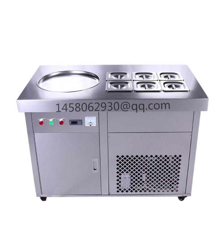 China stainless steel electric Small Yoghurt Ice Cream Maker/single Pans Fried Ice Cream Machine
