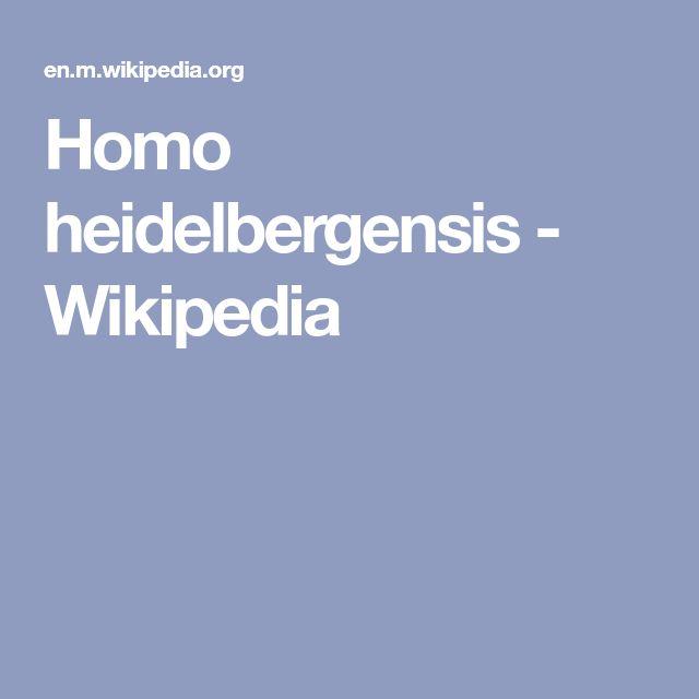 Homo heidelbergensis - Wikipedia