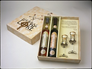 Beautiful gift packaging of Herbal Lore Liqueurs www.herballoreliqueurs.com