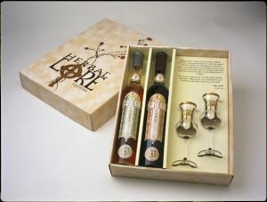 Beautiful gift packaging of Herbal Lore Liqueurs www.herballoreliqueurs.com