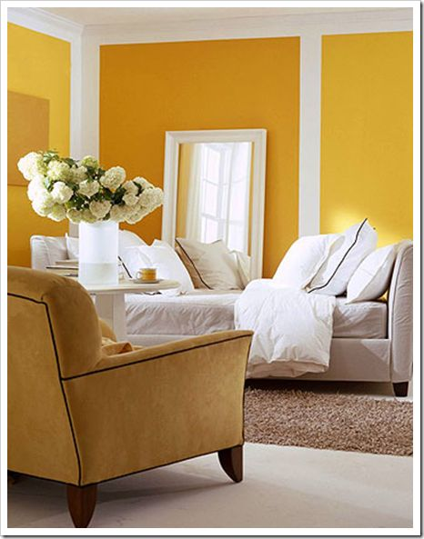 5 Ways To Add Happiness To Your Space Using Colour Blocking. Yellow Living  ...