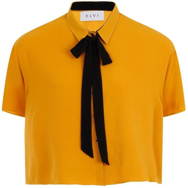 Elvi Plus Size Mustard Box Top With Black Tie ($78) ❤ liked on Polyvore featuring tops, mustard yellow, women, neck ties, tie top, mustard top, mustard yellow top and neck-tie