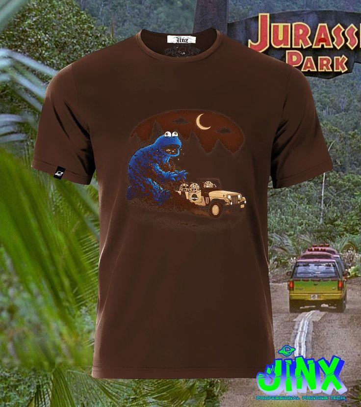 $179.00 Playera o Camiseta Jurassic Cookie, Come Galletas Plaza Sesamo