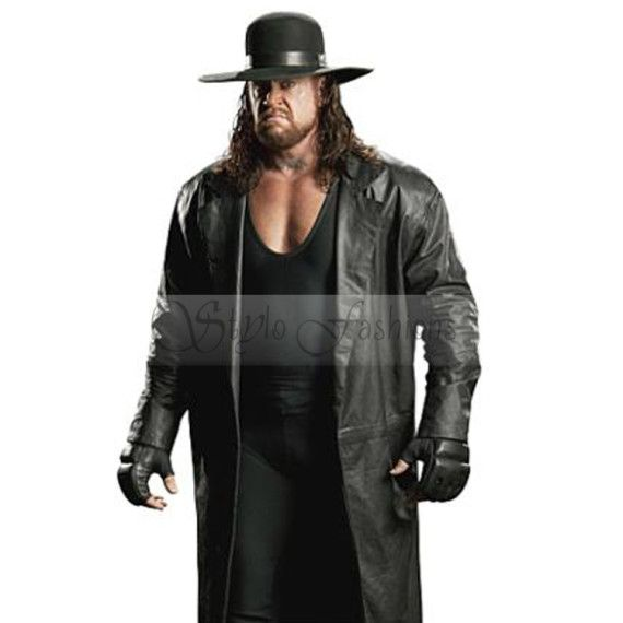 Dead Man The Undertaker Long Leather Coat Undertaker is a greatest fighter and a well known person in wrestling. He is stronger even most dangers monster than other wrestlers. He entered his step in world at March 24, 1965.He is only one remained competitor from the very first episode in WWE RAW 1993. Over 6 ft also won the royal rumble in 2007 and he always wins the competition in main event since he entered his debut in WWE Wrestle Mania.