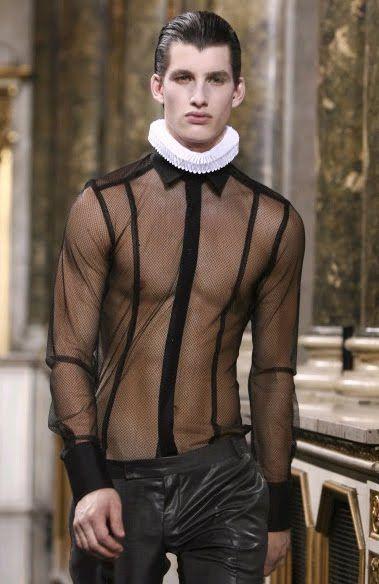 Men's sheer shirt by lexus-rx300, via Flickr, mens fashion