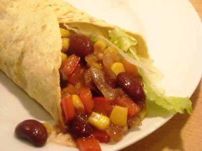 En verden af smag!: Burrito med Kidneybønner og Majs