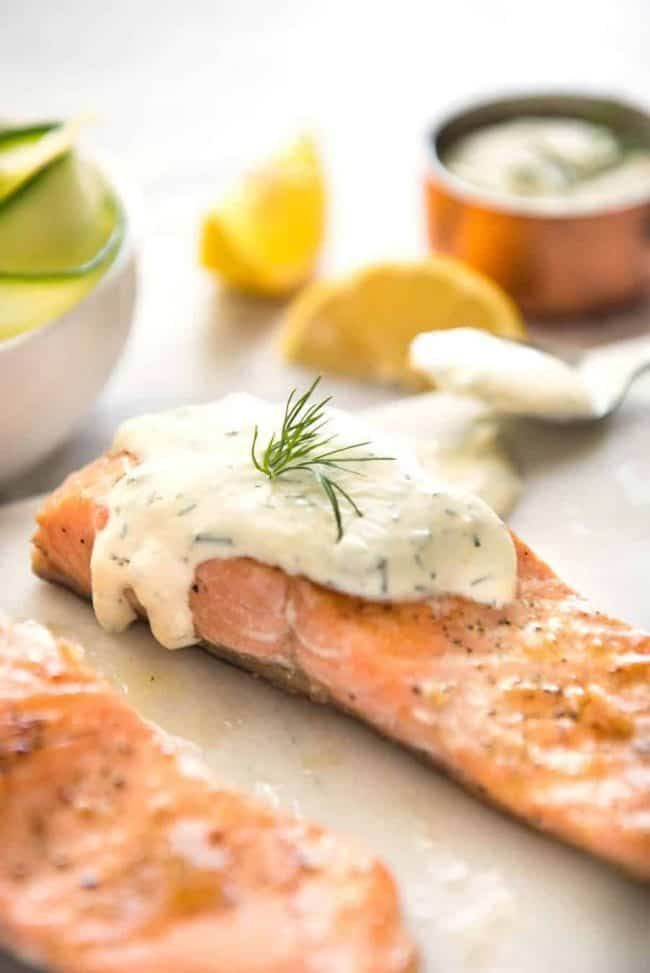 Creamy Dill Sauce For Salmon Or Trout Recipe Creamy Dill Sauce Dill Sauce For Salmon Sauce For Salmon