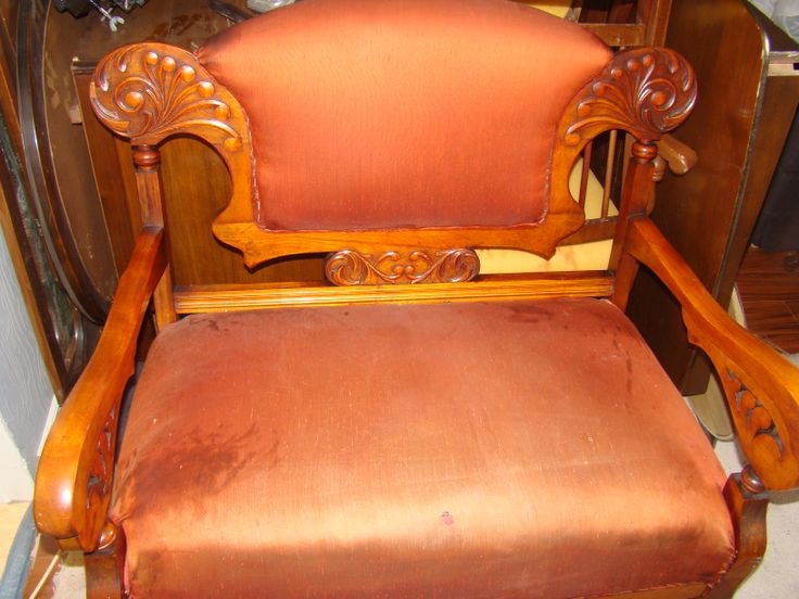 Antique settee with matching chair $950 Item# CS-1012  In stock             http://www.findandtreasure.com/catalogue.html