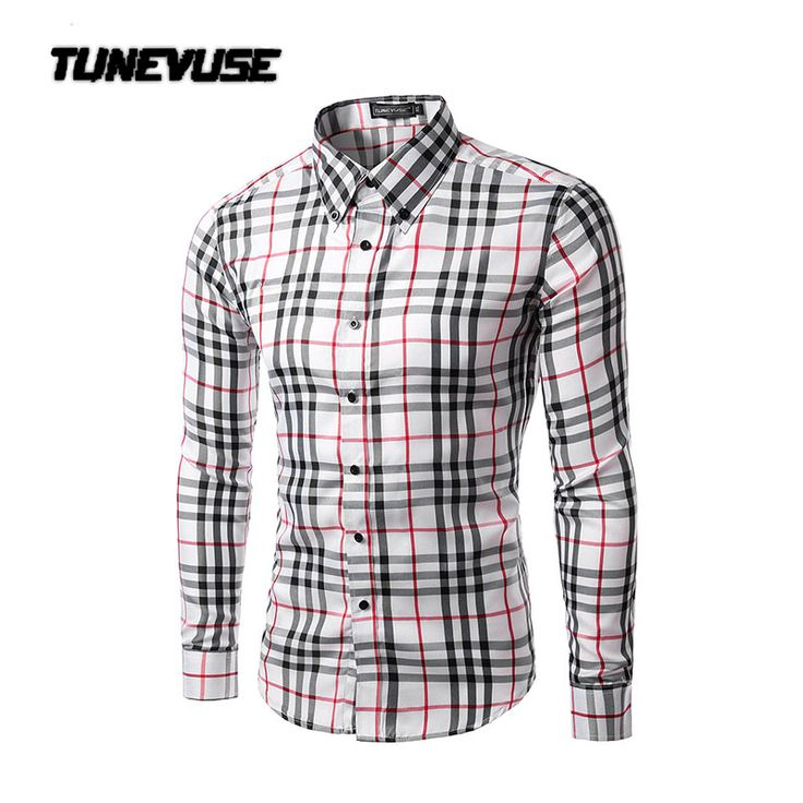 2017 New Arrival mens plaid shirt long sleeve dress shirts Casual fashion style multi color shirts Camisa social masculina 5015 #CLICK! #clothing, #shoes, #jewelry, #women, #men, #hats, #watches