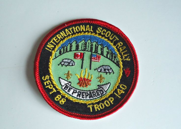 Vintage Boy Scouts Patch International Scout Rally Troop 140 Badge Embroidered 1988 by treasurecoveally on Etsy