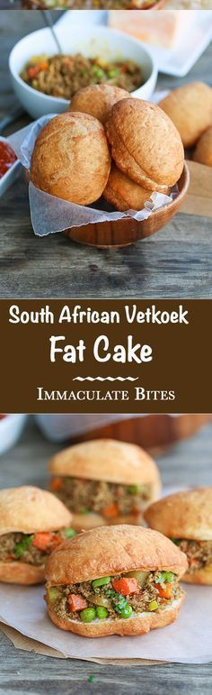 Vetkoeks South African aka Fat Cake, crispy outside and warm and fluffy inside filled with minced curry with step-by step pictorial