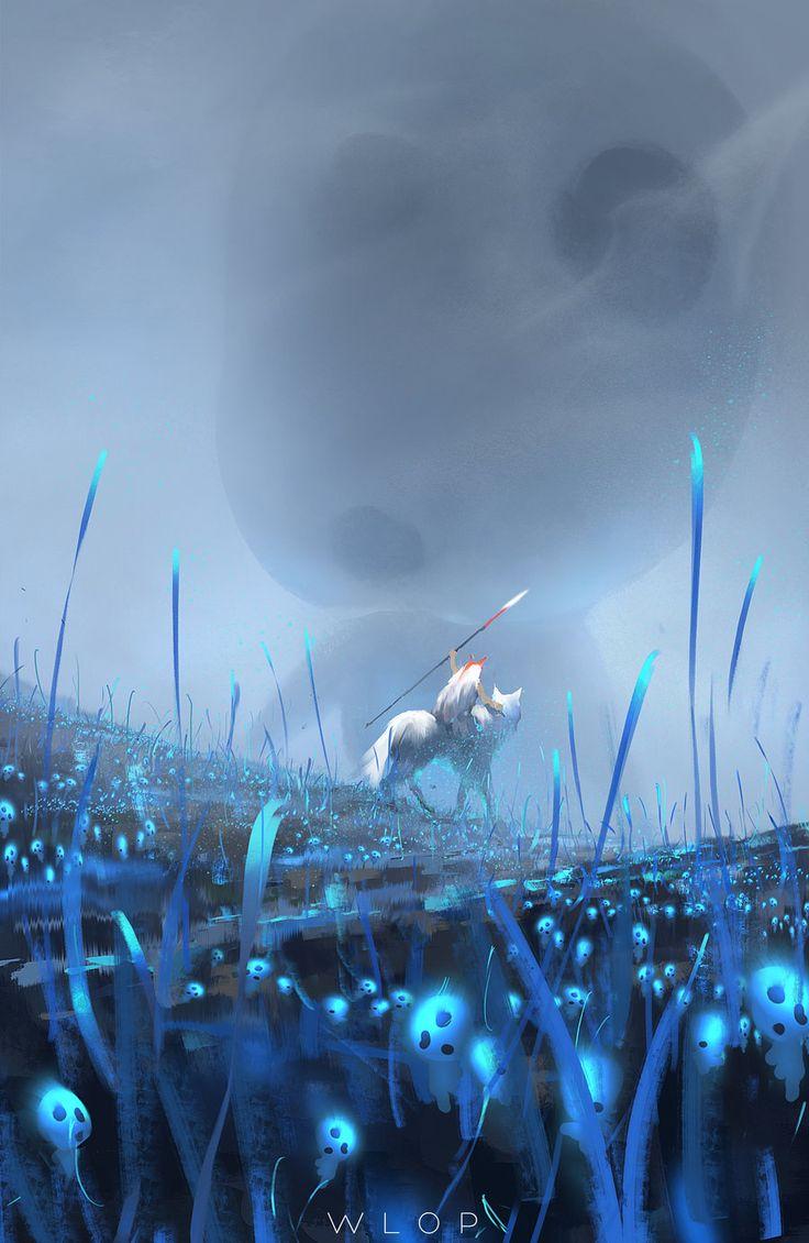 Princess Mononoke by wlop.deviantart.com on @DeviantArt