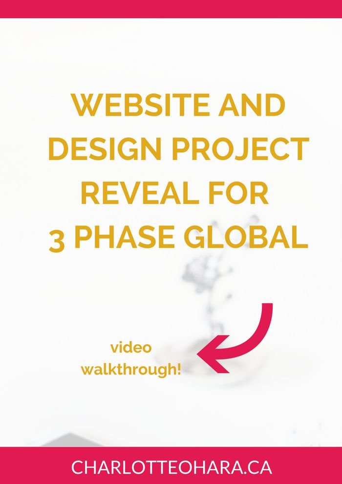 Website and Design reveal for 3 Phase Global | Another website and branding project reveal coming at you! In this blog post and video walkthrough, I show you all about the new website, switch to Squarespace, design choices, layout, images and videos used on the website, parallax scrolling, branding, colours, fonts, and so much more! Click through to read now or pin and save for later!