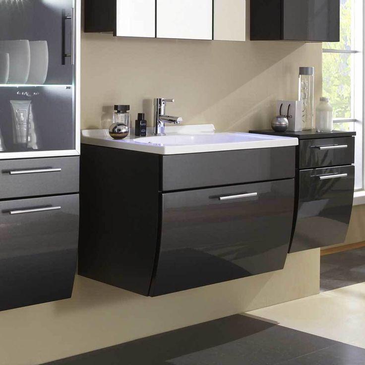 Waschtischunterschrank In Anthrazit Hochglanz 70 Cm Jetzt Bestellen Unter:  Https://moebel.ladendirekt.de/bad/badmoebel/badmoebel Sets/?uidu003d6d530ac7 3121   ...