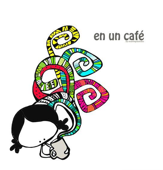 En un café, un (re)comienzo. El sabor deun nuevo día. En un café, la textura de la Amistad.El aroma de las palabras que construyen puentes de diálogo.Un lugar común. En un café, te encuentro. Aiaiaiii… ahora mismito, mi colección de rotuladores ¡¡¡por un caféeeeee!! I nid a kofi urgently!! Eeeegunon mundo!! ::: kafe goxo batean… …