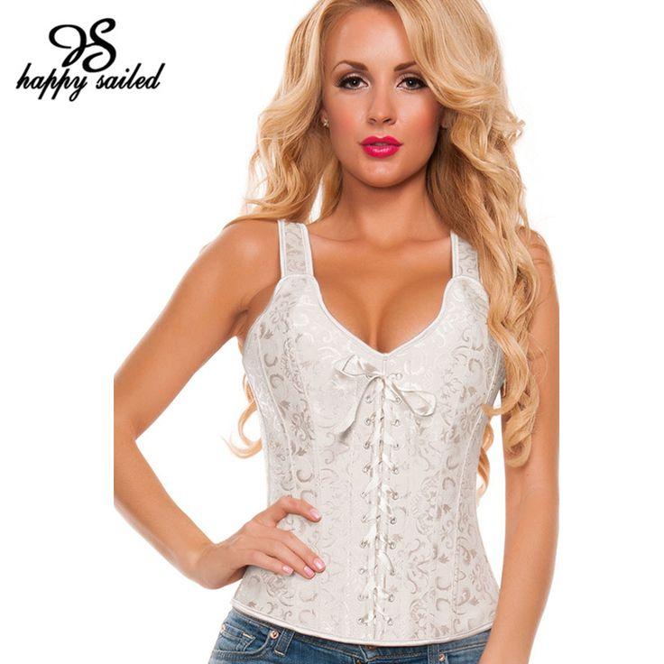 Gelukkig Zeilde Wit/Apricot Brocade Bruids corset vrouwen sexy taille Buik tops steampunk cincher Bustiers en Korsetten 5377