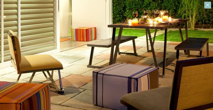 Colourful chairs and picnic table: Luxury Apartment, Interior Design, Los Angeles, Architecture, Homes, Picnic Table, Hi Tech Sunlight