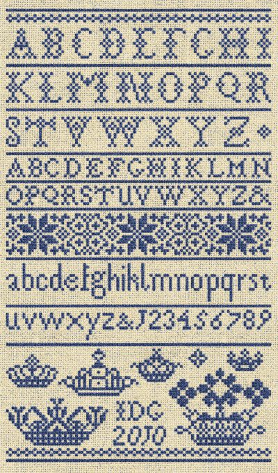 Letters from the North, No. 1 - Instant Download PDF Cross Stitch Embroidery Pattern via Etsy