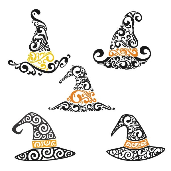 Witch Hat Cuttable Design Cut File. Vector, Clipart, Digital Scrapbooking Download, Available in JPEG, PDF, EPS, DXF and SVG. Works with Cricut, Design Space, Cuts A Lot, Make the Cut!, Inkscape, CorelDraw, Adobe Illustrator, Silhouette Cameo, Brother ScanNCut and other software.
