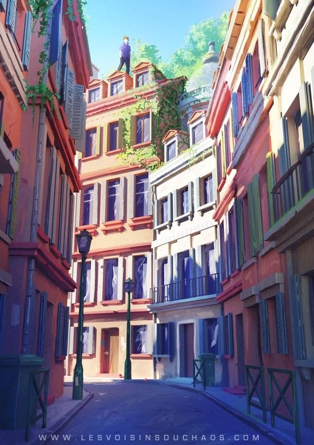 Fantastic cover art by Sylvain Sarrailh (@VoisinsduChaos) from his comic: Neighbors of Chaos! http://nabaroo.com/n/bfGdI0