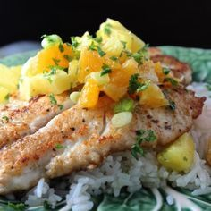Yellowtail Snapper with Orange & Pineapple Salsa