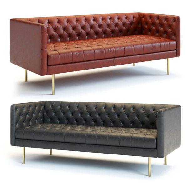 3d Model West Elm Modern Chesterfield Sofa Modern
