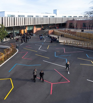 Coolest school playground - Cotham School in Bristol, UK. Brought to you by Shoplet.co.uk - everything for your business.