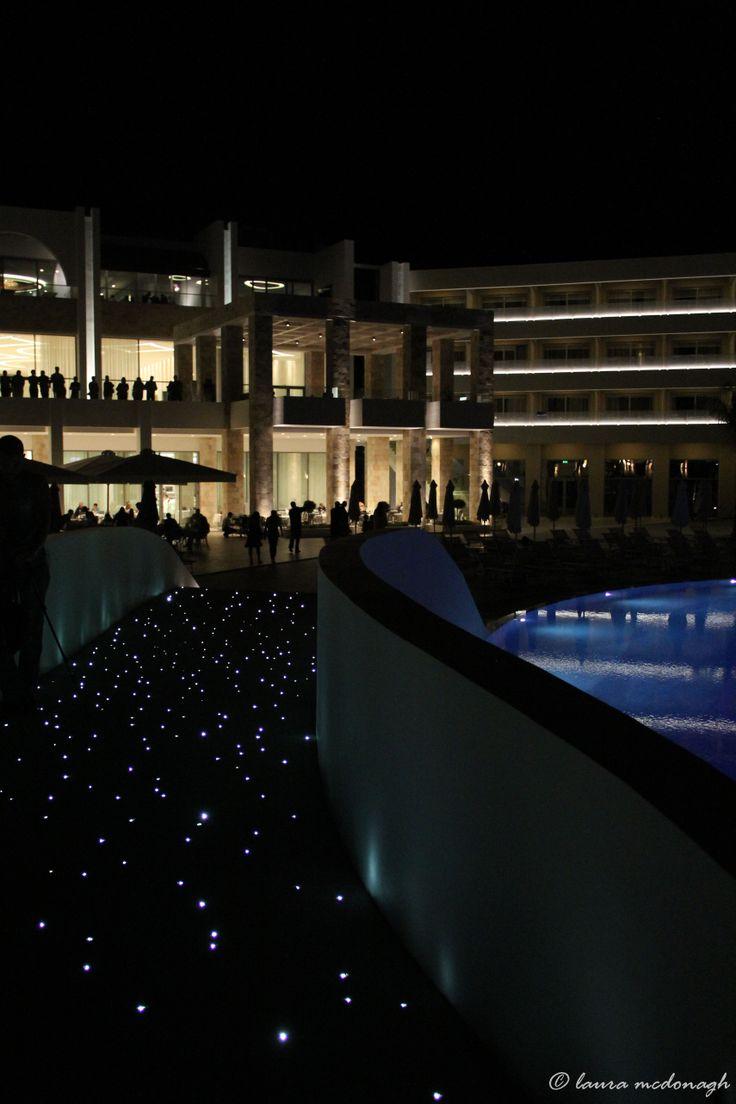 Princess Andriana Hotel Resort at night. Rhodes. © Laura McDonagh