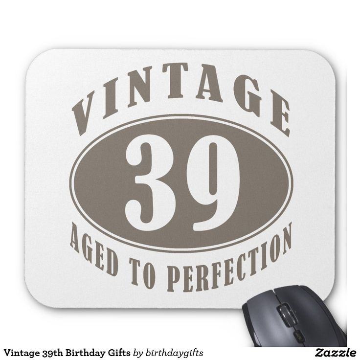 Vintage 39th Birthday Gifts