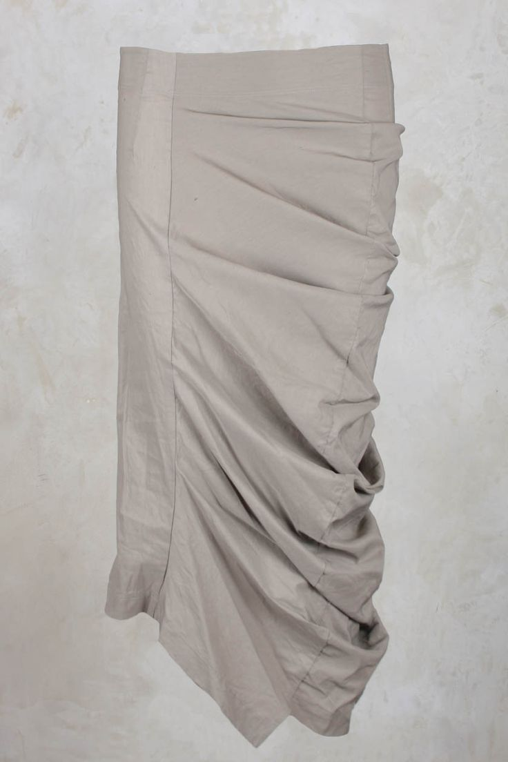 Stretch Skirt with Ruched Side in Desert - Rundholz Mainline